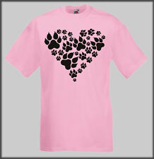 PAW HEART T SHIRT CHIHUAHUA BICHON FRISE AKITA WOLF HOUND POODLE YORKIE WHIPPET