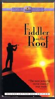 FIDDLER ON THE ROOF - 1971 MOVIE w/ TOPOL (1996 WIDESCREEN VHS 2 TAPE BOXED SET)