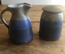 Byron Temple Covered Sugar Bowl and Creamer Pottery