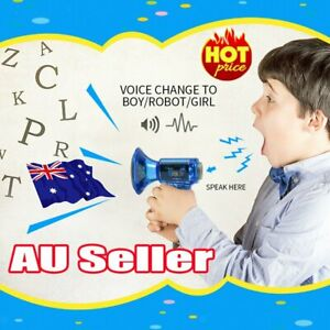 Xmas Gifts Voice Changer Robot Megaphone Amplifier 10 Sound Effects LED Kid Toy