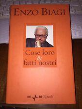 ENZO BIAGI COSE LORO & FATTI NOSTRI RAI ERI RIZZOLI 1^ ediz 2002