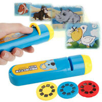 Cartoon LED Projection Flashlight Baby sleep story lamp educational Toy G Px