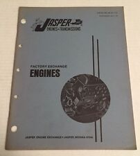 50 's 60 's 70 's Jasper Factory Exchange Engine Catalog Guide Book