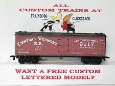 HO CUSTOM LETTERED CENTRAL VERMONT RAILROAD BOXCAR REEFER LOT B