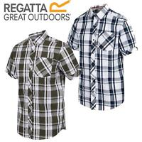 Regatta Mens Deakin 3 Short Sleeved Check Coolweave Light Shirt Crease Resistant