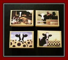 SET OF FOUR BARNYARD COWS AND FRIENDS BOXES