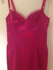 NEW D&G Dolce and Gabbana Stretch Sateen Bustier Dress - Gorgeous Rich Pink