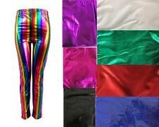 Shiny Metallic Legging Neon Strech Pants Dance Costume Party Costume  Dress Up