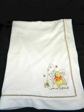 Disney Baby Pooh Blanket SWEET SORT OF FRIEND Off White Satin Security Blanket