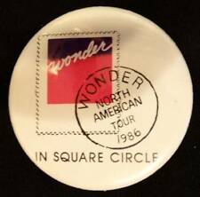 Stevie Wonder In Square Circle 1986 Tour Button 1.6""