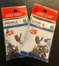Size 16 Eagle Claw Barrel Swivel & Safety Snap #01142-016 - 2 Packs, 24 Pieces