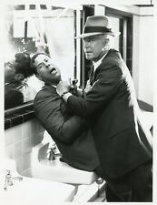 GEORGE PEPPARD PAUL TUERPE FIGHT TROUBLE IN THE CITY OF ANGELS 1987 NBC TV PHOTO