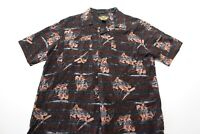 Harley Davidson rayon Motorcycle Artwork CAMP SHIRT Large Slim l