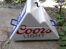 Coors Light Mountain Cooler with Wheels Triangle NY Giants