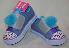 fcc8d312b016 Skechers Twinkle Toes Girls 7 Daisy Days Lights up Blue Pink Sparkly Shoes