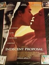 INDECENT PROPOSAL ORIGINAL POSTER 27 X 40 DOUBLE SIDED DS BRAND NEW