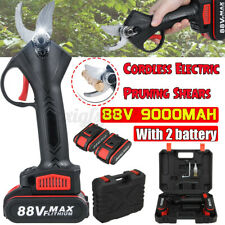 88V Cordless Forbice da potatura a batteria elettrico 2x 9000mah Li-Ion Batteria