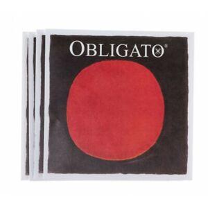 Pirastro Obligato Violin String Set E A D G Strings 4/4 Med Gauge Ball End