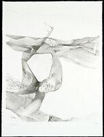 """Kunst in der DDR. """"Der Schlaf"""" 1989 Lithogr. Thomas RANFT (*1945 D) handsigniert"""