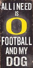 Oregon Ducks Football and Dog Wood Sign [NEW] NCAA Man Cave Den Wall