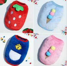 Pet Milk Dog Teacup Dog Coral Fleece Vest Cute Dog Clothing for Small Puppy