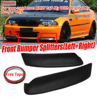 Matte CSL stile Front Splitter Paraurti Lip Spoiler Per BMW E46 M3 Bumper