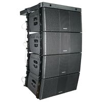 "Sound Town ZETHUS-210BX4 Line Array: 4 X Dual 10"" Speaker for Installation Black"