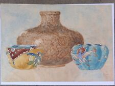 CECIL CHARLES ERNEST JONES SIGNED ORIGINAL WATERCOLOUR PAINTING ON PAPER