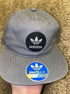 Adidas Gray Flat Bill Hat Ball Cap