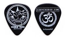 Kelly Clarkson Cory Churko Black Guitar Pick - 2011-12 Stronger Tour