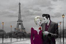 CHRIS CONSANI ~ PARIS SUNSET 24x36 ART POSTER Marilyn Monroe Elvis Presley