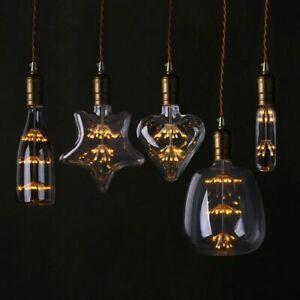 Heart Bottle Bulbs Starry Sky Lamps LED Edison Vintage For Christmas Decorations