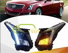 HID Headlights High Beam LED DRL Bi-xenon Projector For 2013-2016 Cadillac ATS