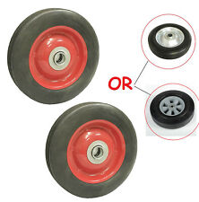 2 Pack 10 Solid Hard Rubber Tire For Dolly Hand Cart 58 Axle Hole