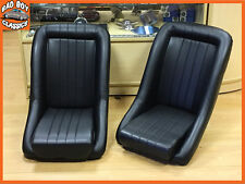 Pair BB1 Classic Car Clubman Bucket Sports Seats Universal Design