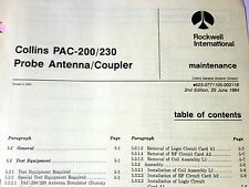 Collins PAC 200 & PAC-230 Probe Antenna/Coupler Service Manual