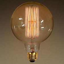 """1 LARGE Edison Style E26 Squirrel Cage Filament G40 5"""" Globe Light Bulb 40w"""