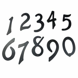 """Black 4"""" 101mm Height House Number Door Address Digits Aluminum Nail Fixed New"""