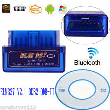 ELM327 V2.1 ODB2 ODB-II Wireless Bluetooth Car Auto Diagnostic Scan Scanner Tool