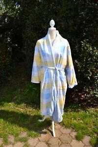 Peignoir  robe de chambre éponge mixte femme homme taille 38 40 bleu zaza2cats