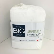 The Big One Solid Jersey Sheets, 4Pc - White Queen
