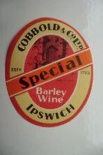 MINT COBBOLDS SPECIAL BARLEY WINE IPSWICH BREWERY BEER BOTTLE LABEL