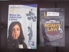 2 BOOKS by RANDA ABDEL-FATTAH - NOAH'S LAW + WHERE THE STREETS HAD A NAME  - VGC