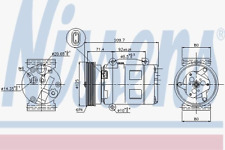 Compresseur climatisation-NISSENS 89072