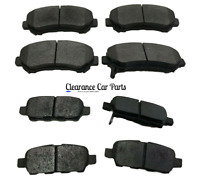 FOR NISSAN QASHQAI J10 PETROL DIESEL FRONT AND REAR BRAKE PADS 2007 TO 2014 UK