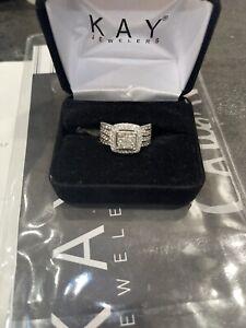 2 Carat Diamond White Gold Wedding Band 10K Kay Jewelers