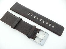 Herren Uhrenarmband Echtleder 24 mm Dunkelbraun doppellöcher für DIESEL DZ 5103