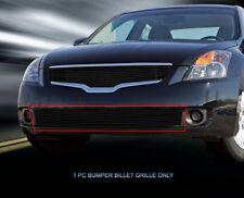 Fits 2007-2009 Nissan Altima Black Billet Grille Grill Bumper