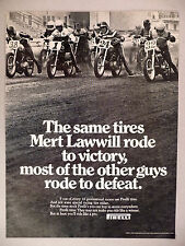 Pirelli Tire PRINT AD - 1970 ~~ Mert Lawmill, tires, motorcycle