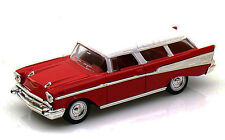 Red 1957 Chevy Nomad Lucky 1:43 Road Signature Diecast